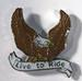 LIVE TO RIDE EAGLE HAT/JACKET PIN