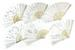 WHHIE FABRIC WEDDING LACE HAND FANS
