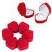 RED VELVET HEART SHAPE RING DISPLAY BOX