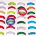 GLASS WEDDING BAND RINGS ASSORTED COLORS