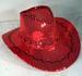 RED SEQUIN COWBOY HAT