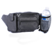 Cowhide Fanny Pack w/ CELL PHONE & Water Bottle Holders - Black