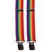 Gay Pride SUSPENDERS Rainbow Flag