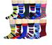 12 Pairs Different Touch Men Fashion Assorted Design  DRESS socks