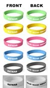 HURRICANE KATRINA Silicone Jelly Rubber WRISTBANDs/bracelets