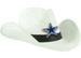 COWBOY HAT (White)- NFL Dallas COWBOYs