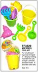 Beach TOY Set - 3329 Fun colorful beach TOYS set