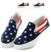 American Flag Foot Women Flat Casual Canvas Shoes SNEAKERS