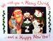 Apparel T-shirt Holidays Christmas Printed:''Happy NEW Year''