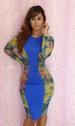 Latest High Fashion Blue Bandage Bodycon DRESS LB9439