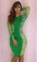 Latest high Fashion Green Bandage Bodycon DRESS LB9440