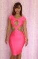 Sexy Women Hollow Out Backless Bandage DRESS LB9407