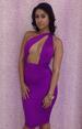 Purple Off-shoulder Sexy Bodycon DRESS LB9426