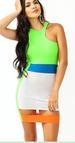 Green One-Shoulder Celebrity Party DRESS LB9464