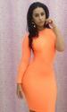Fashion Orangere One Shoulder Long Sleeve Woman DRESS (S,M) LB915