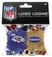 Logo Loomz RUBBER BANDS, Clip & Charm - NFL Baltimore Ravens