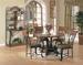 Furniture, 6 Pcs Dinettes Set: Table,  Side CHAIR,  Baker's Rack