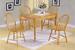 Furniture, 5 Pcs Dinettes Set: 1 Leg Table, 4 Oak Windsor CHAIRs