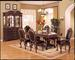 1 Double Pedestal Table, 6 Side CHAIRs, 1 Hutch /Buffet