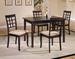 Furniture,Dinettes Set:1 Wenge Finish Table, 4 Wenge Finish CHAIR