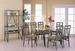 Furniture, 8 Pce Dinettes Set: 1 Table, 6 CHAIRs, 1 Baker's Rack