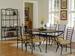 Furniture, 8 Pcs Dinettes Set: 1 Table, 6 CHAIRs, 1 Baker's Rack
