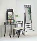 Furniture, 3 Pcs Vanity Set: 1 Table, 1 CHAIR, 1 Cheval Mirror