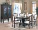 Furniture 8 pcs Dinettes6838:1 Table,6 Side CHAIR,1 Hutch/ Buffet