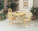 Furniture 5 Pcs Dinettes Set: 1 Table, 4 CHAIRs