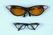 HOLIDAY Halloween Jumbo Rhinestone Clear Glasses - Black