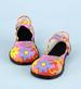 Holiday Seasonal Halloween Clown SHOES Pink Flower