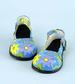Holiday Seasonal  Halloween Clown SHOES -Blue Flower