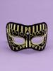 HOLIDAY Seasonal Halloween Best Ever Mask -Gold Stripe