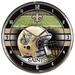 Chrome Round Wall Clocks NFL New Orleans SAINTS