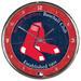 Chrome Round Wall Clock MLB Boston RED SOX