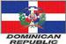 Apparel T-shirt Country FLAGs Printed:''Dominican Republic''