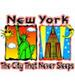 Apparel T-shirt Printed:''NEW York City, NY/ The city that never''