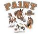 Apparel T-shirt Animals WildLife Horses Printed:''PAINT''