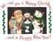 Apparel T-shirts HOLIDAYs Christmas Day Printed:''Meowy Christmas''