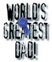 Apparel T-shirts HOLIDAYs Father's Day Printed:''Greatest Dad! ''