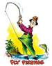 Apparel T-shirts Humor Printed:''fly FISHING''