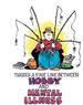 Apparel T-shirts Humor Printed:''FISHING mental illness''