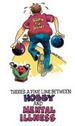 Apparel T-shirts Humor Printed:''BOWLING mental illness''