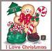 Apparel T-shirt HOLIDAYs Christmas Day Printed:''I Love Christmas''