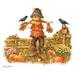 Apparel T-shirts Fall & HOLIDAY Printed:''Fall Scarecrow''