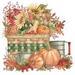 Apparel T-shirts Fall & HOLIDAY Printed:''Basket Of Autumn''