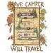 Apparel T-shirts Fall & HOLIDAY Printed:''Have Camper''