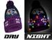 LED Light Up Pom Beanie Knit Hat - NFL Baltimore Ravens