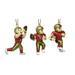 Mini sports FIGURINE Ornaments 3-Packs Set - NFL San Francisco 49