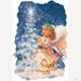 HOLIDAY & Seasonal Christmas Printed: ''Christmas Wish With Crest''